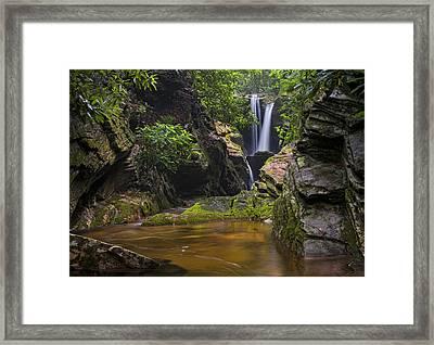 Dugger Falls Framed Print