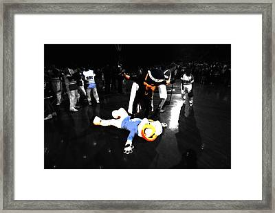 Duke And Carolina Mascot Rivalry Framed Print by Brian Reaves