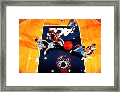 Duke And North Carolina Basketball Rivalry Framed Print by Brian Reaves