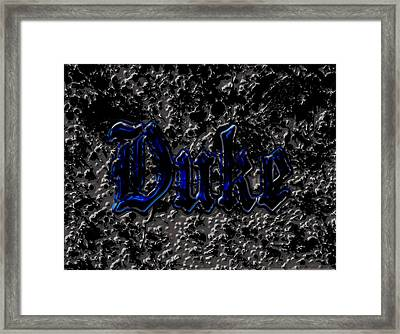Duke Blue Devils 1d Framed Print