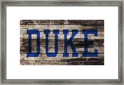 Duke Blue Devils 5a Framed Print by Brian Reaves
