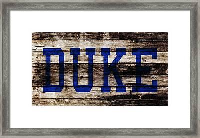 Duke Blue Devils 5b Framed Print by Brian Reaves