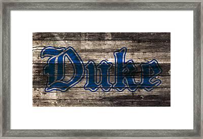 Duke Blue Devils 5d Framed Print by Brian Reaves