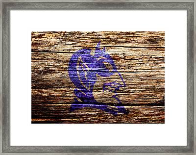 Duke Blue Devils 5f Framed Print by Brian Reaves