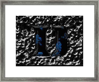 Duke Blue Devils 1b Framed Print