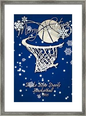 Duke Blue Devils Christmas Card 2 Framed Print by Joe Hamilton