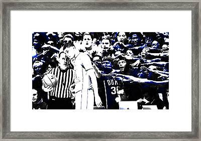 Duke Blue Devils Crazies Framed Print