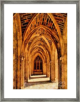 Duke Chapel Framed Print by Betsy Foster Breen