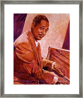 Duke Ellington Framed Print by David Lloyd Glover