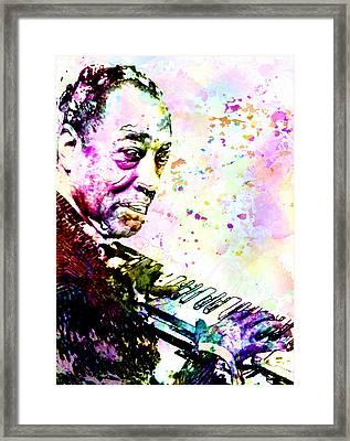 Duke Ellington Framed Print by Elena Kosvincheva
