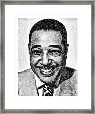 Duke Ellington, Music Legend By Js Framed Print