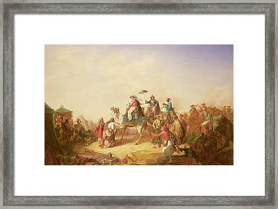 Duke Ernest Of Saxe Cobourg Gotha's Tour To Egypt Framed Print