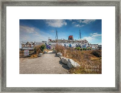 Framed Print featuring the photograph Duke Of Lancaster Graffiti by Adrian Evans