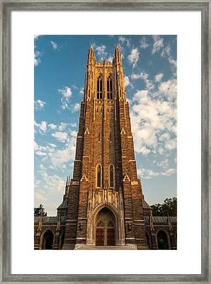 Duke University Chapel Framed Print