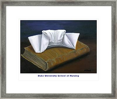 Framed Print featuring the painting Duke University School Of Nursing by Marlyn Boyd