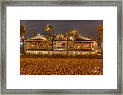 Duke's Restaurant Huntington Beach - Back Framed Print by Jim Carrell