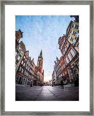 Dulga Street - Gdansk Framed Print by Michael Dolicke