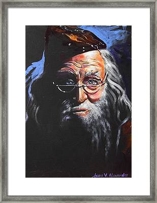 Dumbledore Framed Print by Jean Alexander