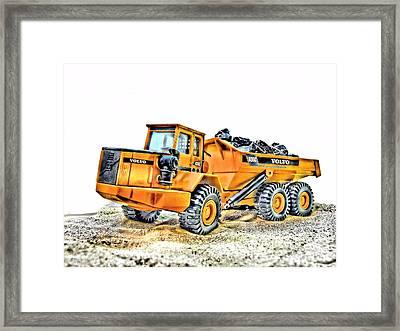 Dumper Truck Framed Print