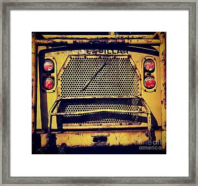 Dump Truck Grille Framed Print by Amy Cicconi