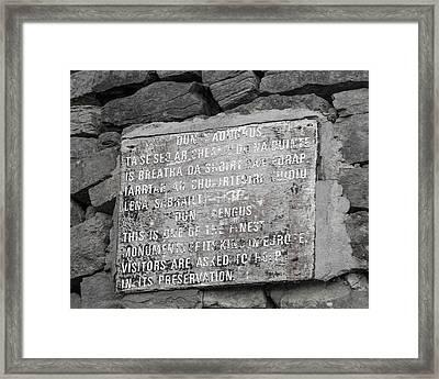 Dun Aengus  Framed Print