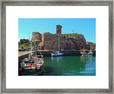 Dunbar Castle And Harbour Framed Print by Yvonne Johnstone