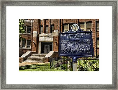 Dunbar High School - Little Rock Framed Print by Stephen Stookey