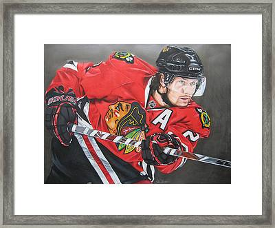 Duncan Keith Framed Print by Brian Schuster