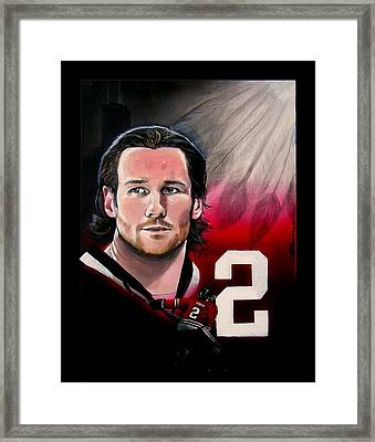 Duncan Keith Framed Print by Gerard Garcia