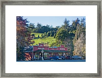 Framed Print featuring the photograph Duncan Mills by Kim Wilson