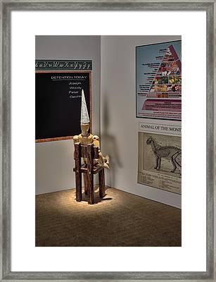 Dunce Framed Print