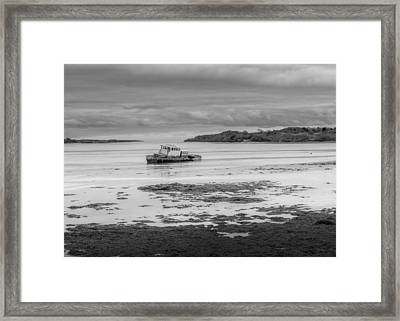 Dundrum The Old Boat Wreck Framed Print