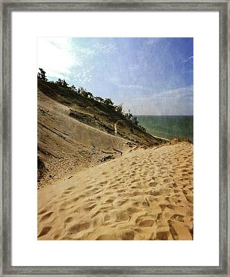 Framed Print featuring the photograph Dune And Blue Sky 2.0 by Michelle Calkins