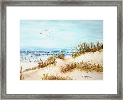 Dune Beach Framed Print