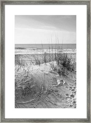 Dune - Black And White Framed Print