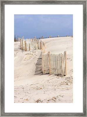 Dune Fence Portrait Framed Print