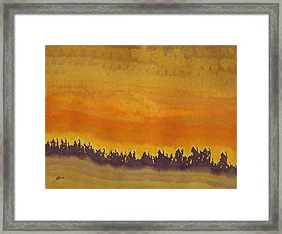 Dune Forest Original Painting Framed Print by Sol Luckman