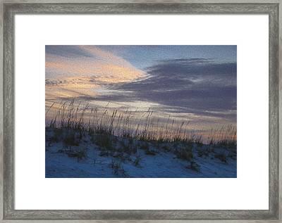 Dune Grass Blue Framed Print