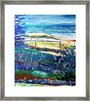 Framed Print featuring the painting Dune Grasses by Winsome Gunning