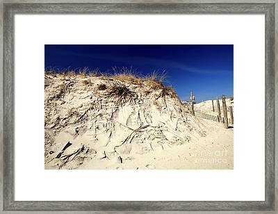 Framed Print featuring the photograph Dune Heights by John Rizzuto