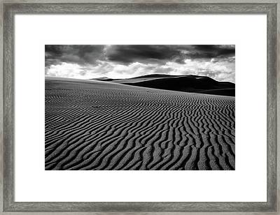 Framed Print featuring the photograph Dune Lines by Stephen Holst
