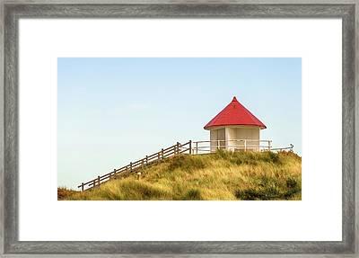 Dune Pavilion Framed Print by Wim Lanclus