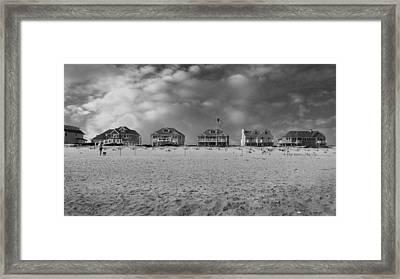 Dune Road Bw Framed Print