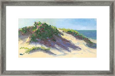 Dune Roses Framed Print by Barbara Hageman