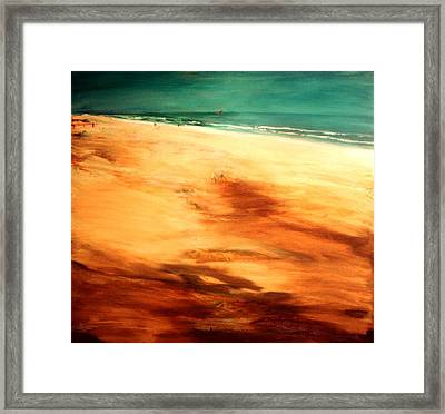 Framed Print featuring the painting Dune Shadows by Winsome Gunning