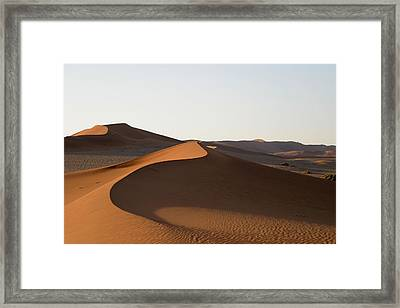 Framed Print featuring the photograph Dune Shapes by Riana Van Staden