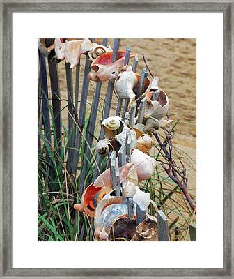 Dune Shell Fence Framed Print