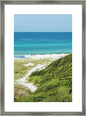 Dune Trail To The Gulf Framed Print