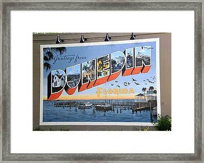 Dunedin Florida Post Card Framed Print by David Lee Thompson