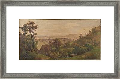 Dunedin From Pine Hill Framed Print by George Carrington